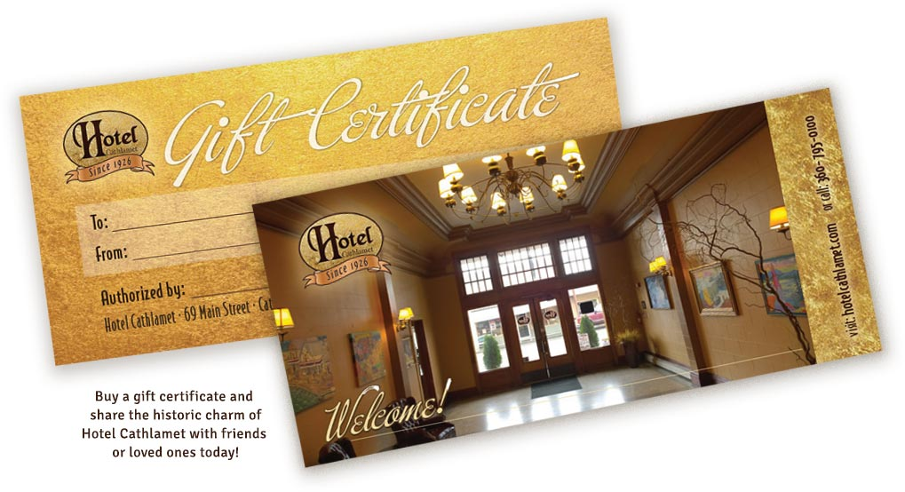 Hotel Cathlamet historic charm, now available as a gift certifcate!