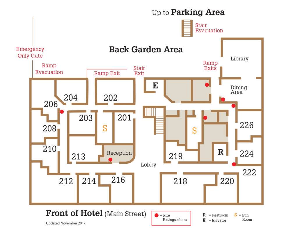 Hotel Cathlamet - room map